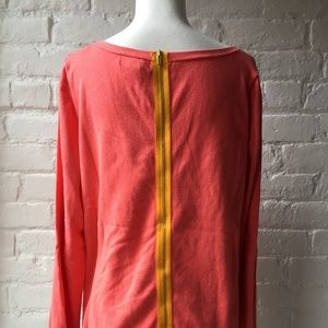 Banana Republic Bright Sweater with Exposed Zipper